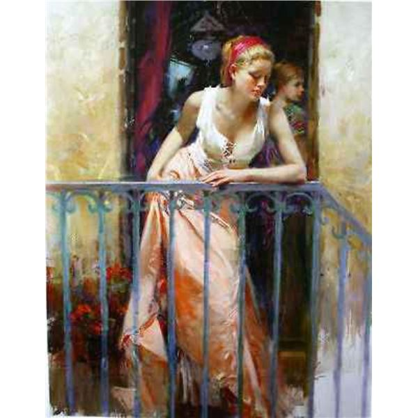 """Pino """"AT THE BALCONY (16x20 Embellished)"""""""