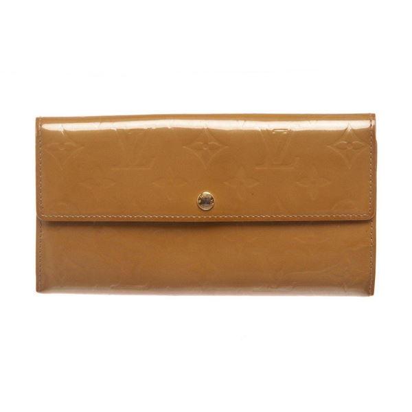 Louis Vuitton Yellow Vernis Monogram Sarah Wallet