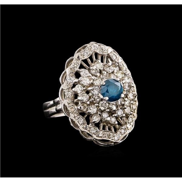14KT White Gold 1.72 ctw Diamond Ring