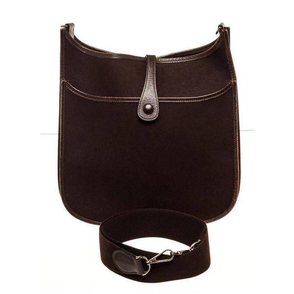 Hermes Brown Leather Evelyne 1 GM Crossbody Bag