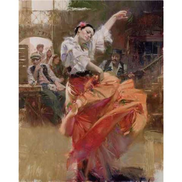 """Pino """"FLAMENCO IN RED  (Full Size Giclee"""""""