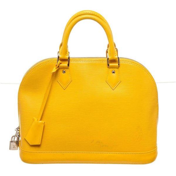 Louis Vuitton Yellow Epi Leather Alma PM Satchel