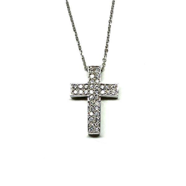 0.50 ctw Diamond Pendant & Chain - 14KT White Gold
