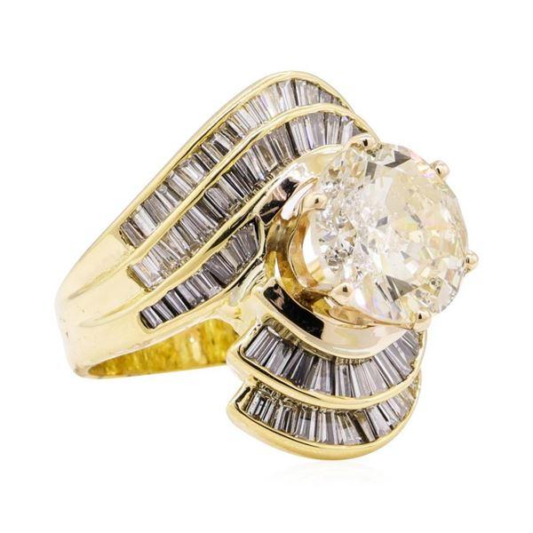 7.51 ctw Diamond Ring - 18KT Yellow Gold
