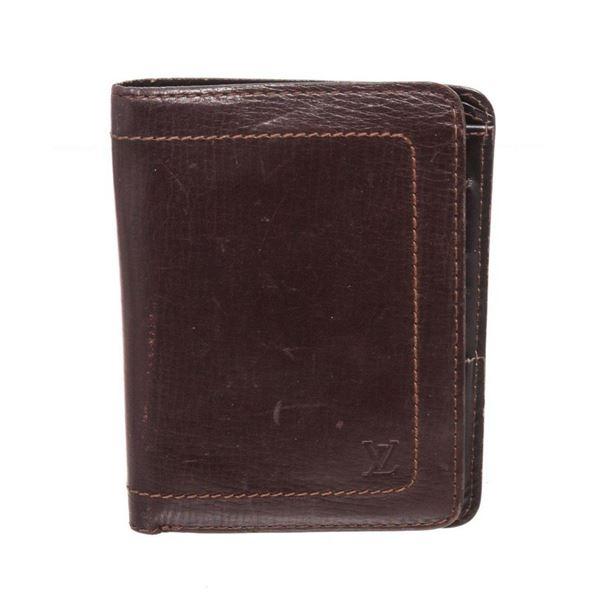 Louis Vuitton Brown Porte Mens Card Wallet