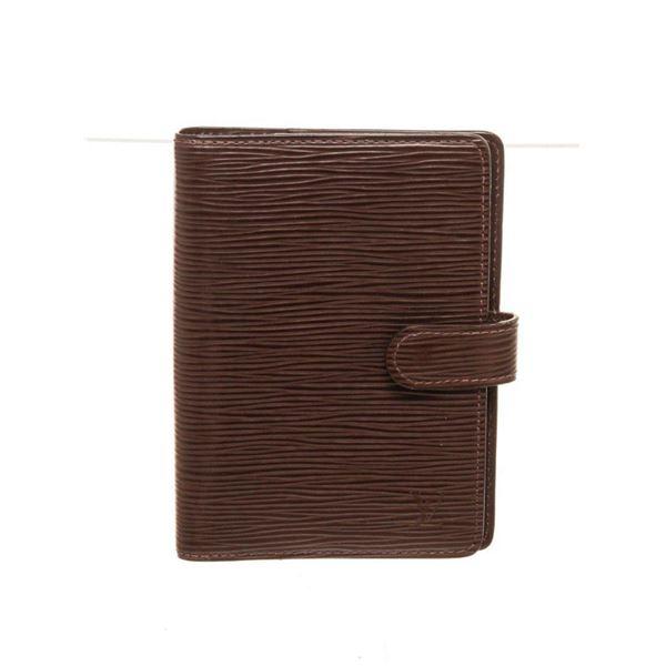 Louis Vuitton Black Epi Leather Agenda Wallet