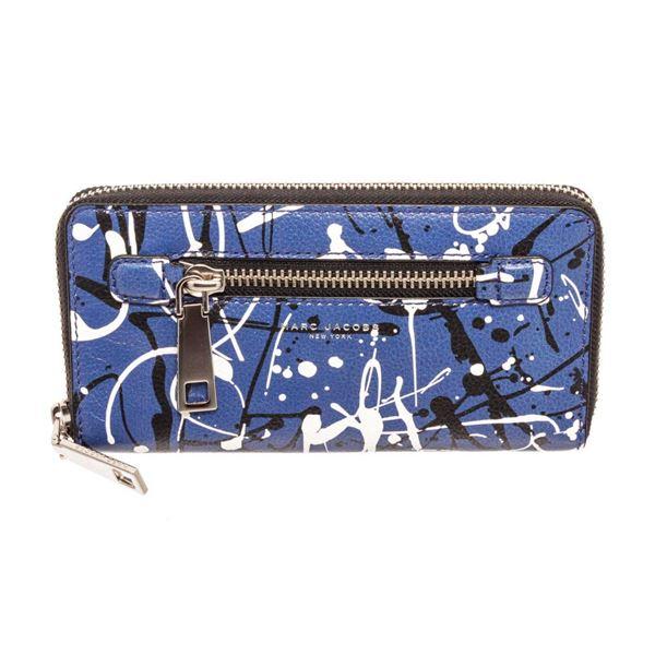 Marc Jacobs Blue Multicolor leather Gotham Zippy Wallet