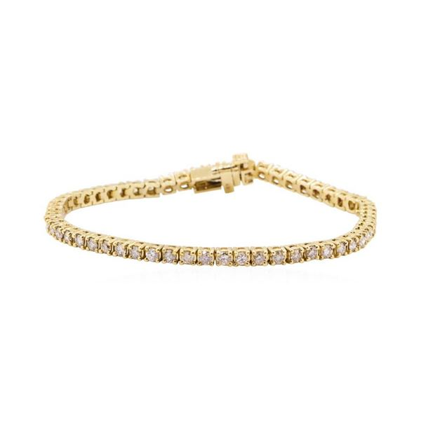 3.17 ctw Diamond Tennis Bracelet - 14KT Yellow Gold