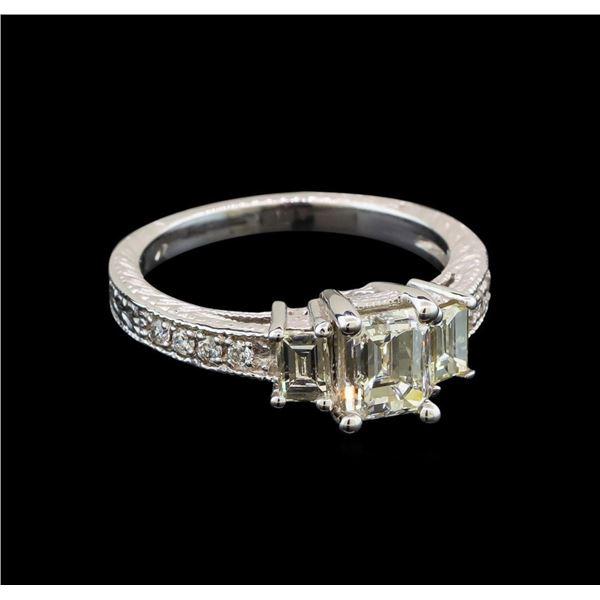 14KT White Gold EGL USA Certified 1.55 ctw Diamond Ring