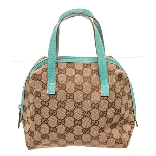Gucci Brown Canvas Small Handbag