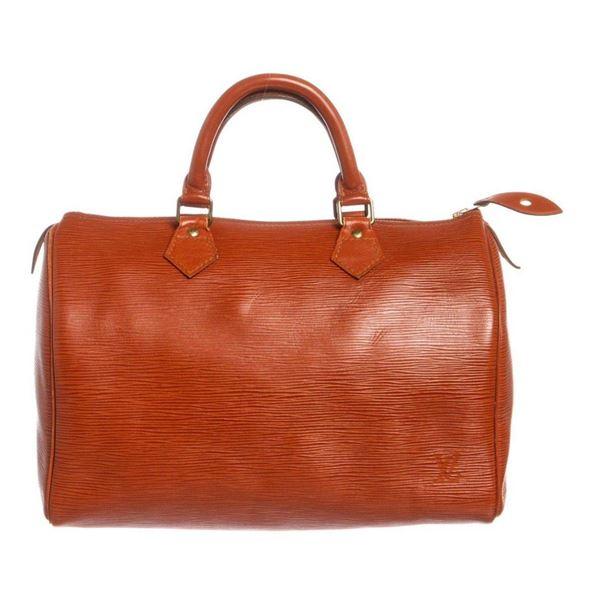 Louis Vuitton Sienna Brown Epi Speedy 30 cm Satchel Bag
