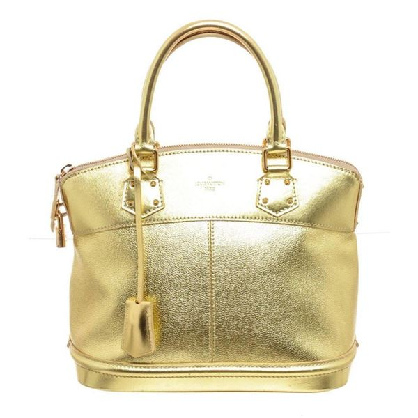 Louis Vuitton Gold Suhali Leather Lockit Satchel Bag