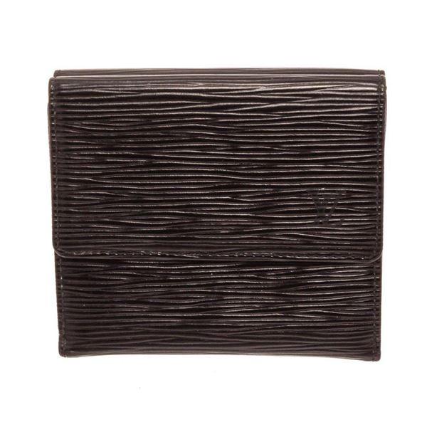 Louis Vuitton Black Epi Leather Elise Wallet