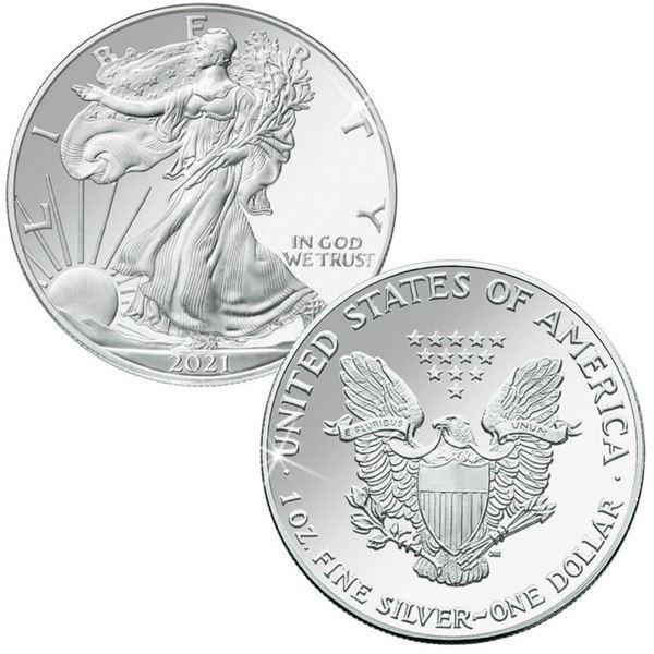 2021 American Silver Eagle .999 Fine Silver Dollar Coin