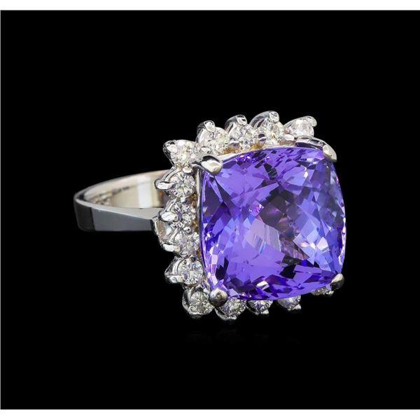 14KT White Gold 8.63 ctw Tanzanite and Diamond Ring