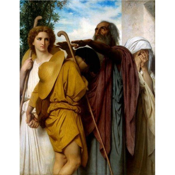 William Bouguereau - Tobias Saying Good-Bye to his Father