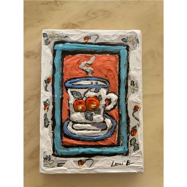 "Leslie Lew ""Peach cup #3"""