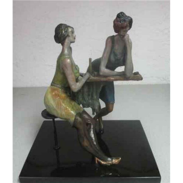 "Tarkay ""LADIES AT THE BAR"" Sculpture"