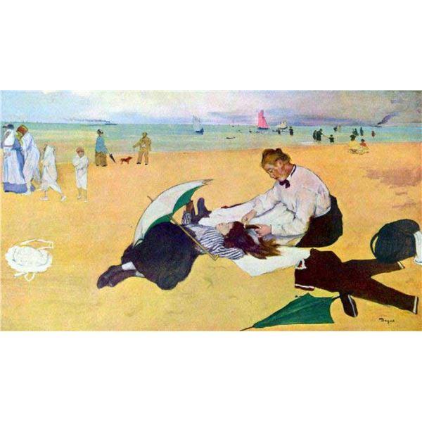 Edgar Degas - Small Girls On The Beach