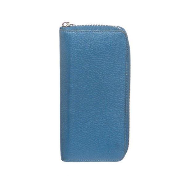 Louis Vuitton Blue Taurillon Leather Vertical Zippy Wallet