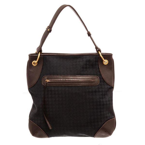 Bottega Venetta Black Leather Shoulder Bag