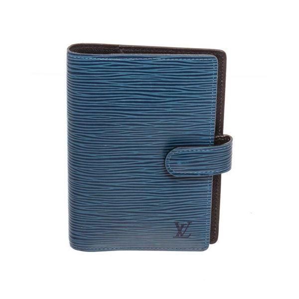 Louis Vuitton Blue Epi Leather Agenda PM Wallet