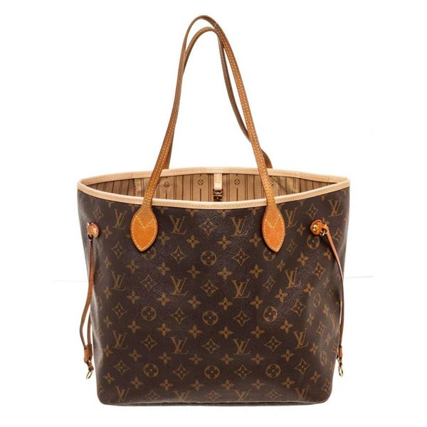 Louis Vuitton Brown Monogram Canvas Neverfull MM Totes Bag