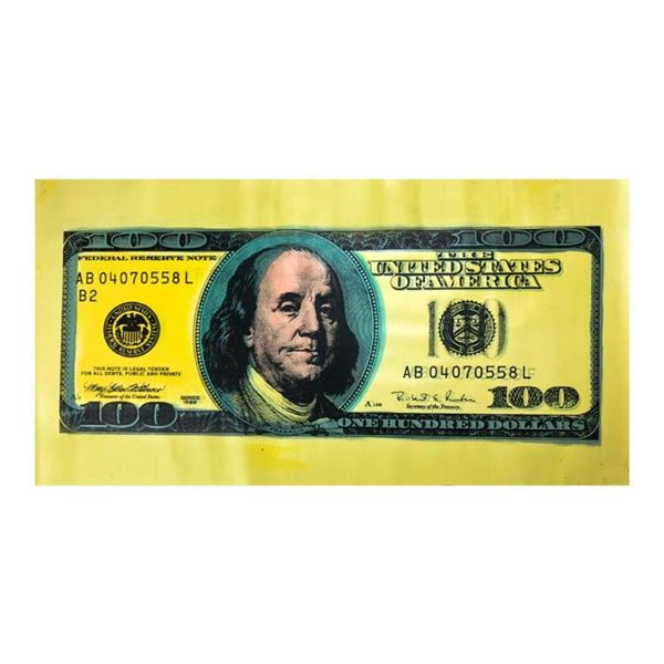 100 Dollar New Ben Bill by Steve Kaufman (1960-2010)
