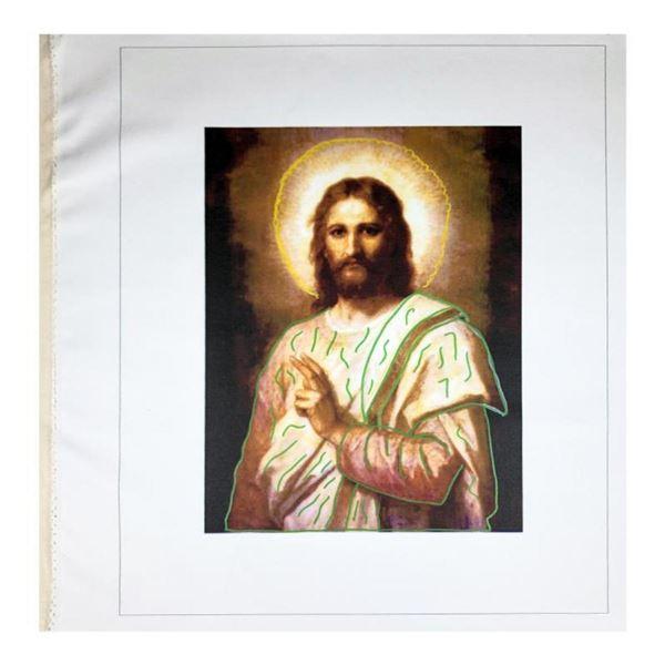 Jesus Peace (State 2) by Steve Kaufman (1960-2010)
