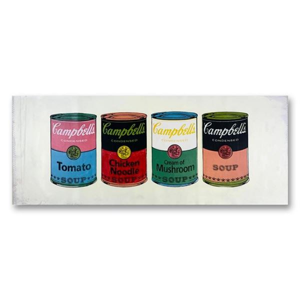 4 Soup Cans State One by Steve Kaufman (1960-2010)
