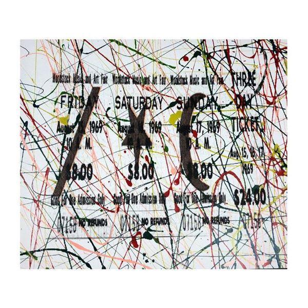 1969 Woodstock Ticket by Steve Kaufman (1960-2010)