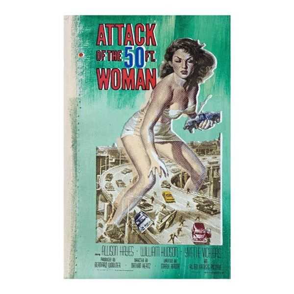 Attack of the 50 Foot Women by Steve Kaufman (1960-2010)