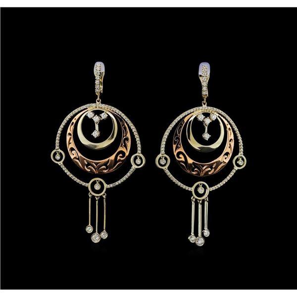 14KT Two-Tone Gold 2.28 ctw Diamond Earrings