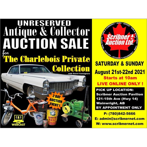 3 DAY AUCTION : AUGUST 20-21-22