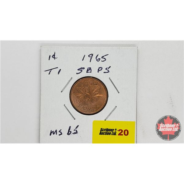 Canada One Cent 1965 (See Pics)