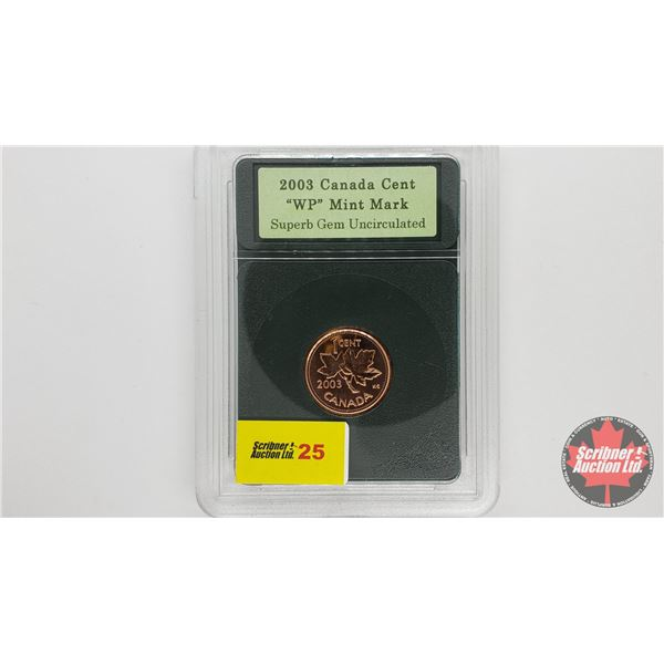 Canada One Cent 2003 WP (Encased)