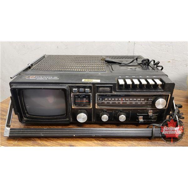 "Retro Candle TV-Radio-Cassette Recorder (5-1/2""H x 17""W x 13""D)"