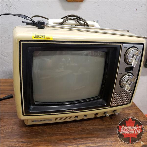 "Retro Toshiba Portable Color TV (c.1977) (11""H x 14""W x 12""D)"