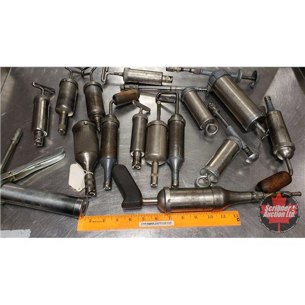 Tray Lot: Variety of Small Grease Guns (See Pics)