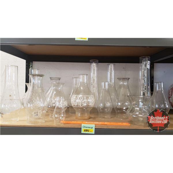 Lamp Chimneys (17) Variety (See Pics!)