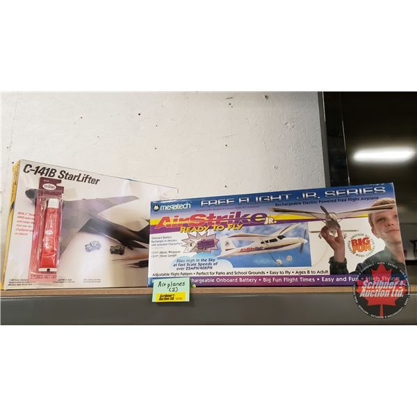Battery Operated Rechargeable Free Flight Airplane & C-141B Starlifter Model (1/200 Scale) (See Pics