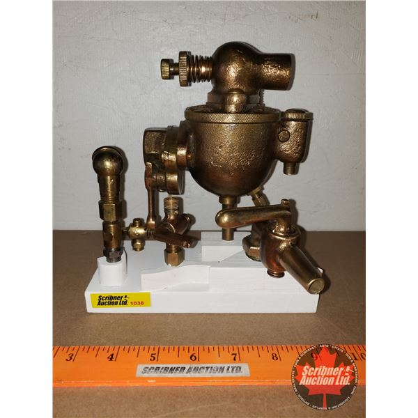 """Steam Punk Diorama of Brass Fittings (9""""H x 9""""W x 6""""D) (Custom by Larry Charlebois)"""
