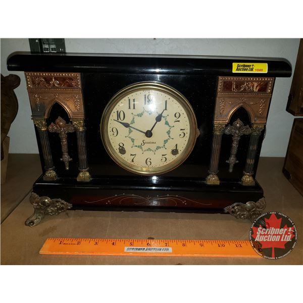 """Sessions Mantle Clock c.1930's (10""""H x 15""""W x 6""""D)"""