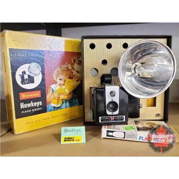 Kodak Brownie Hawkeye Camera w/Flash (in orig. box)