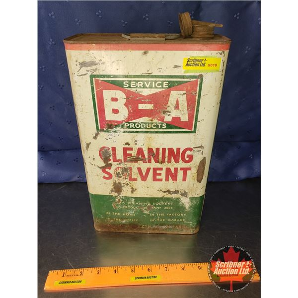 """B-A Service Products Tin """"Cleaning Solvent"""" (Bow Tie) 12""""H x 7-1/2""""W x 3-3/8""""D"""