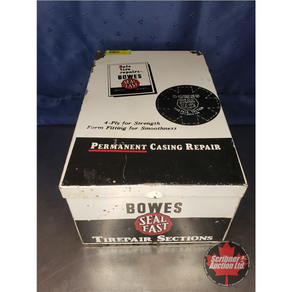 """Metal Display Bin - Slope Top """"Bowes Seal Fast Tire Repair Section"""" (7-1/2""""H x 12-1/2""""L x 8-1/2""""W)"""