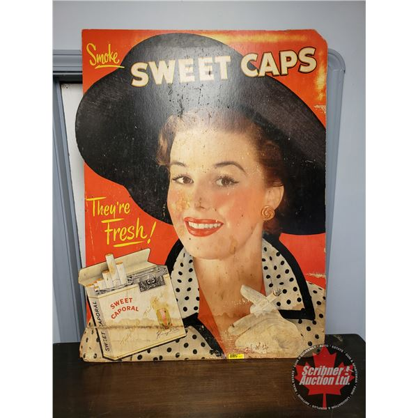"""""""Sweet Caps"""" Cardboard Ad (28-1/4""""W x 38""""H)"""
