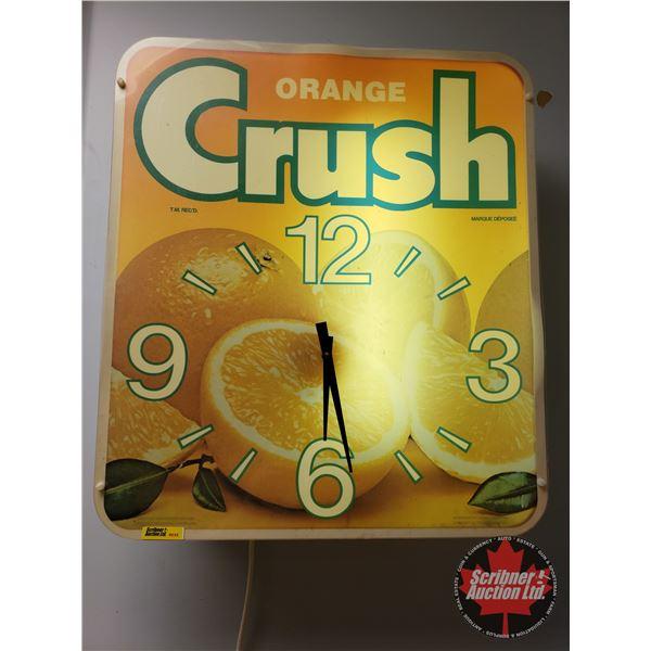 """Orange Crush"" Lighted Clock (23""H x 20""W x 5""D)"