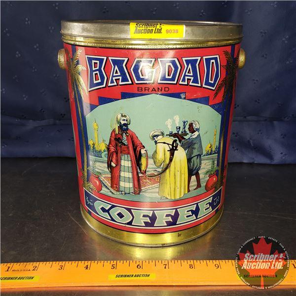 """Coffee Tin Pail """"Bagdad"""" (8-3/4""""H x 7-1/4""""Dia)"""