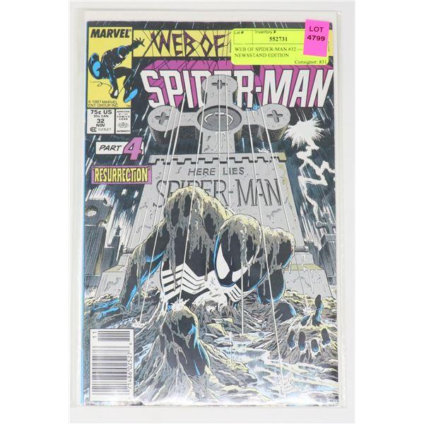 WEB OF SPIDER-MAN #32 --- NEWSSTAND EDITION